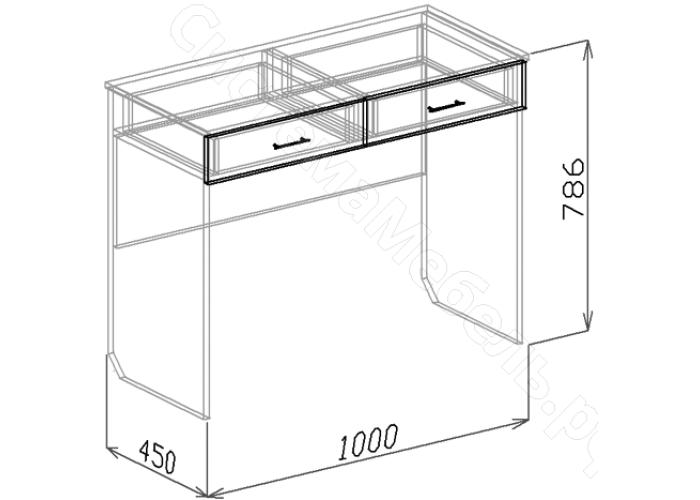 Спальня модульная Атлантида - Туалетный стол. Белый глянец