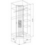 Спальня модульная Атлантида - Шкаф угловой. Белый глянец