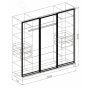 Спальня модульная Атлантида - Шкаф 3-дверный купе. Белый глянец