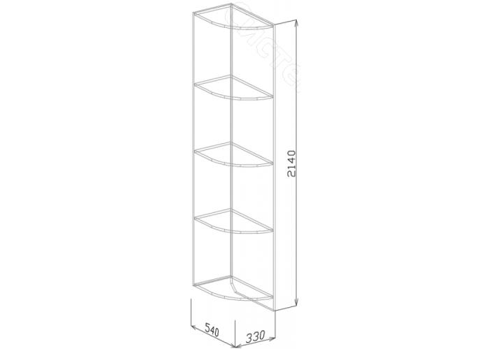 Спальня модульная Палермо - Угол завершающий 2. Белый дым