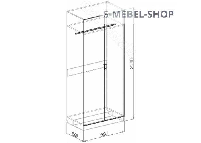 Спальня модульная Палермо - Шкаф 2-дверный. Белый дым