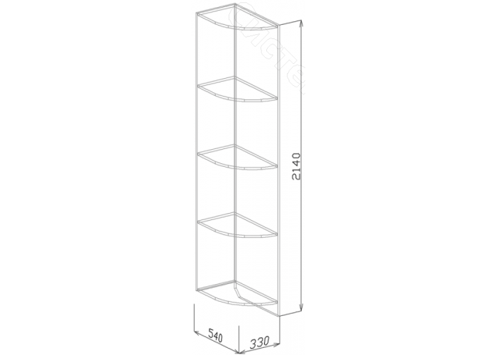 Спальня модульная Роберта - Угол завершающий N2. Пастель мокко