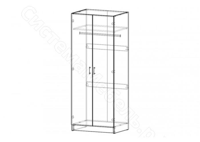 Модульная система Лофт - Шкаф 2-х дверный 800 Белый