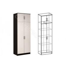 Прихожая Машенька - Шкаф 2-х ств. комбинированный.  Венге/Дуб молочный.