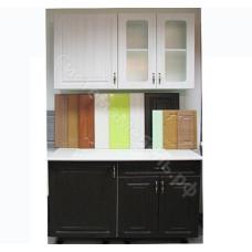 Кухня Эллада 1,1 м - Сандал венге/Сандал белый. 4 модуля