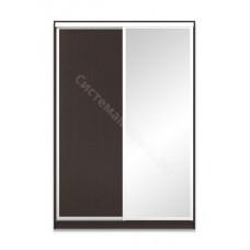 Шкаф-купе 2-х дверный 1500 с зеркалом - Венге