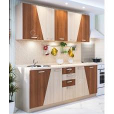 Кухня Призма 2 м - Ясень шимо светлый/темный. 6 модулей