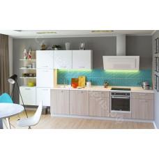 Кухня Модена - Белый/Ясень шимо светлый. 12 модулей