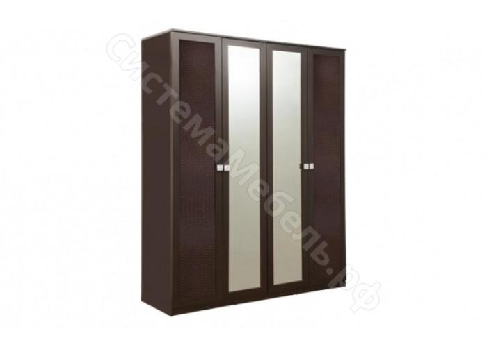 Спальня Мона - Шкаф для одежды - Венге/Крокодил коричневый