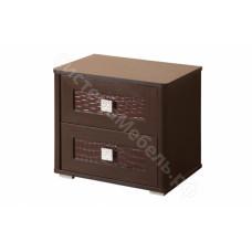 Спальня Мона - Тумба прикроватная - Венге/Крокодил коричневый
