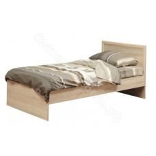 Спальня Фриз - Дуб Сонома - Кровать односпальная с настилом