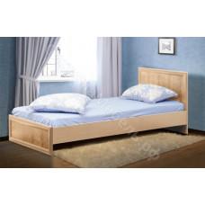 Спальня Волжанка 2 - Кровать односпальная 900 с настилом - Дуб Линдберг/Крок кремовый