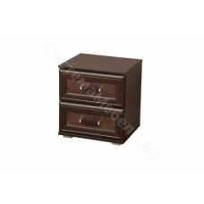 Спальня Волжанка - Тумба прикроватная - Венге/Крокодил коричневый