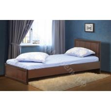 Спальня Волжанка - Кровать односпальная 900 с настилом - Венге/Крокодил коричневый