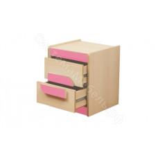 Детская Лайф - Дуб Линдберг/Розовый - Тумба прикроватная
