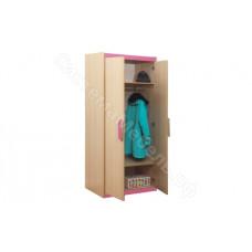 Детская Лайф - Дуб Линдберг/Розовый - Шкаф для одежды