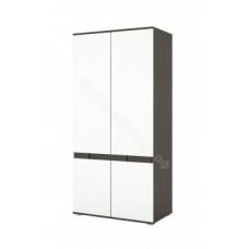 Шкаф распашной 2-х дверный Марсель - Венге/Белый глянец