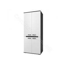Шкаф распашной 2-х дверный Виго - Венге/Белый глянец