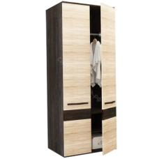 Шкаф распашной 2-х дверный Сапфир - Дуб Кантерберри/Дуб Сонома