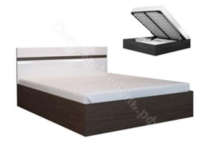 Спальня Ненси - Кровать 1400. Венге/Белый глянец