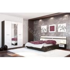 Модульная спальня Ненси - Венге/Белый глянец. До 8 модулей