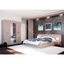Спальня Ненси - 4 модуля. Ясень шимо светлый/Какао глянец