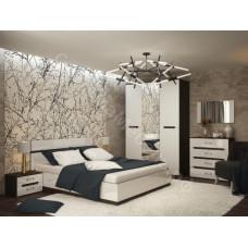 Модульная спальня Вегас - Венге/Белый глянец. До 10 модулей