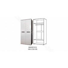 Спальня Вегас - Шкаф 2-х створчатый. Венге/Белый глянец