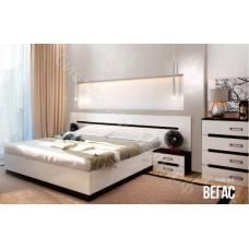 Спальня Вегас - Кровать 1600 с подъемным механизмом. Венге/Белый глянец