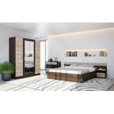 Спальня Уют-1 - Венге/Беленый дуб. 5 модулей