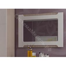 Модульная спальня Палермо 2 - Зеркало. Дуб Сонома светлая/Белый глянец