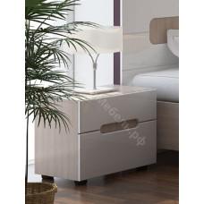 Модульная спальня Палермо 2 - Тумба прикроватная. Дуб Сонома светлая/Белый глянец
