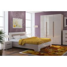 Спальня Палермо 2 - Дуб Сонома светлая/Белый глянец. 6 модулей