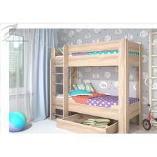 Кровать 2-х ярусная Мийа 4 - Дуб Сонома светлая
