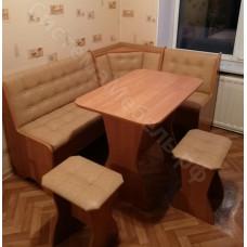 "Кухонный уголок ""Аленка 17"" - Ольха/Темный беж"
