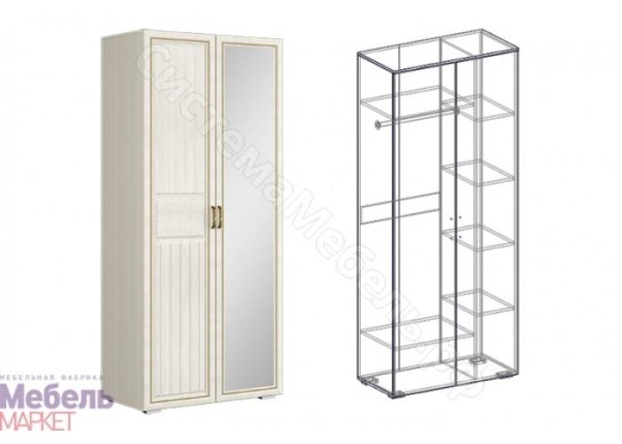 Спальня Виктория - Шкаф 2-х створчатый комбинированный левый 440 - Ясень Шимо светлый/Филадельфия