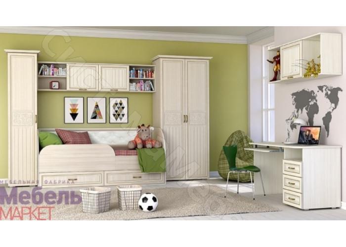 Спальня Виктория - Ясень Шимо светлый/Филадельфия. 8 модулей. Набор N2