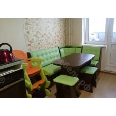 """Кухонный уголок """"Аленка 17"""" с раскладным столом - Венге/Латте 786"""