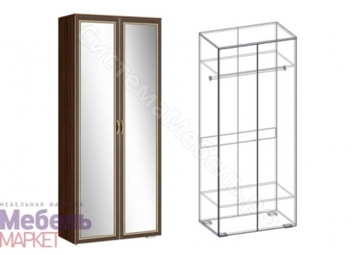 Спальня Виктория - Шкаф 2-х створчатый с зеркалом 540. Орех/Орех