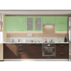 Кухня Одри 2 - Венге/Дуб молочный. До 18 модулей