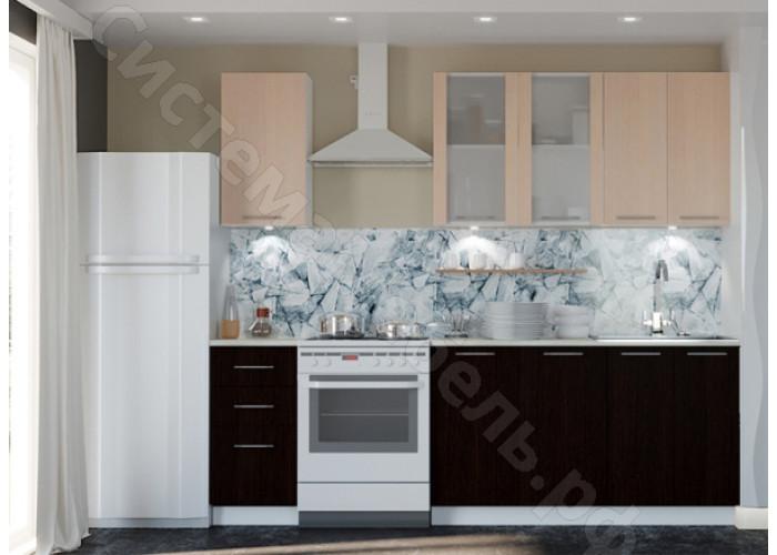 Кухня Одри 180 МДФ - Белый глянец/Венге - 6 модулей