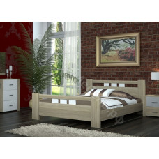 Спальня Бергамо - Дуб сонома/белый глянец. 4 модуля