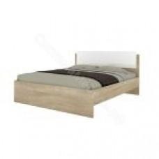 Спальня Бланка - Кровать 1600 б/о, б/м. Дуб сонома/Белый глянец