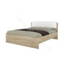 Спальня Бланка - Кровать 1400 б/о, б/м. Дуб сонома/Белый глянец