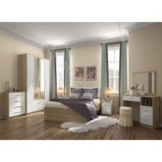 Спальня Бланка - Дуб сонома/белый глянец. 7 модулей