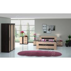 Модульная спальня Кения - Дуб кремона/Венге. До 4 модулей