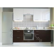 Кухня Одри 220 МДФ - Белый металлик/Венге - 8 модулей