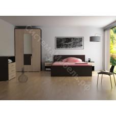 Спальня Николь - Венге/Дуб кремона. 5 модулей