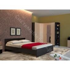 Спальня Николь - Венге/Дуб кремона. 7 модулей