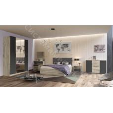 Модульная спальня Венеция - Дуб серый крафт/серый графит. До 11 модулей